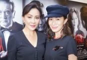 刘嘉玲再战舞台剧夺命证人,佘诗曼现场支持合影撞脸